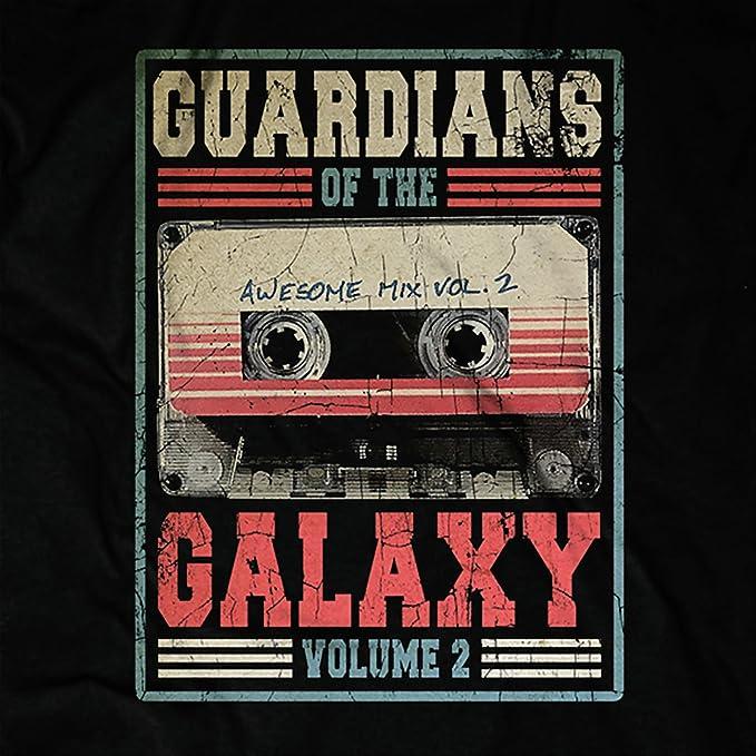 Guardians of the Galaxy Herren T-Shirt Awesome Mix Vol 2 Tape Marvel  Schwarz Baumwolle - L: Amazon.de: Bekleidung