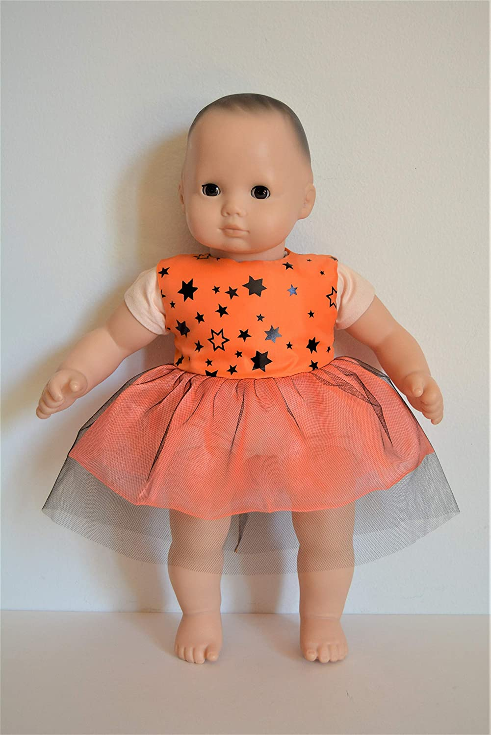Handmade Doll Clothes Dress fit 15 Amerian Girl Bitty Baby Dolls Handcraft Voile