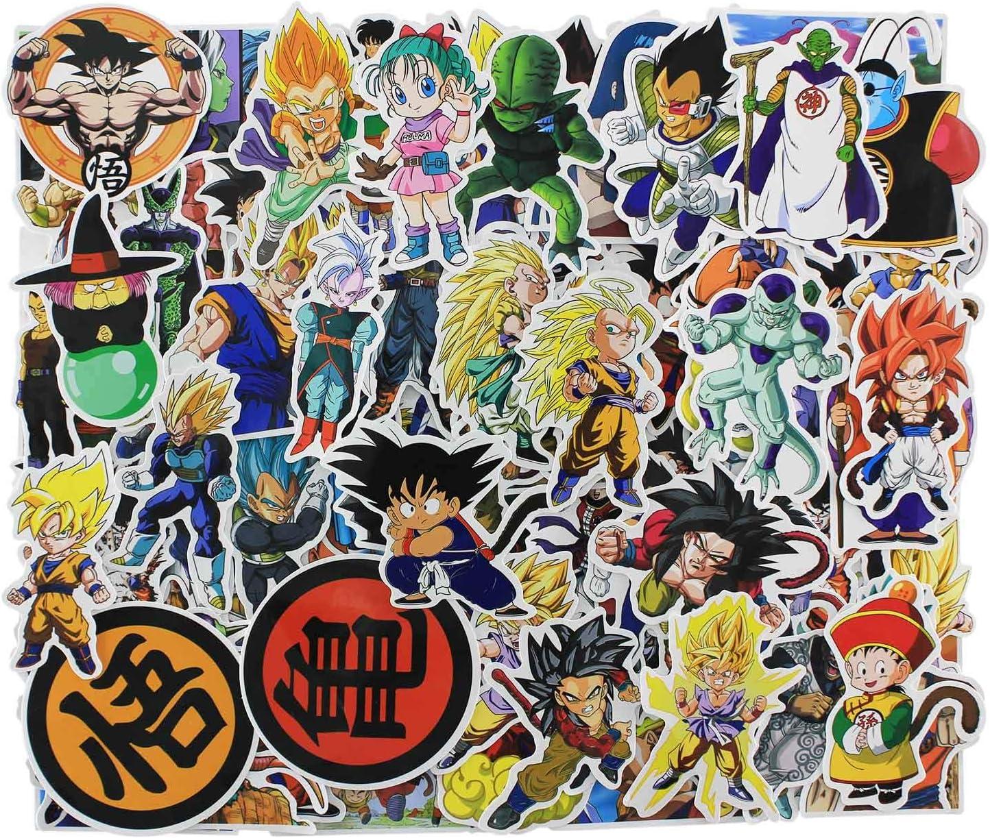 Amazon Com Cartoon Stickers 100 Pcs Anime Dragon Ball Laptop