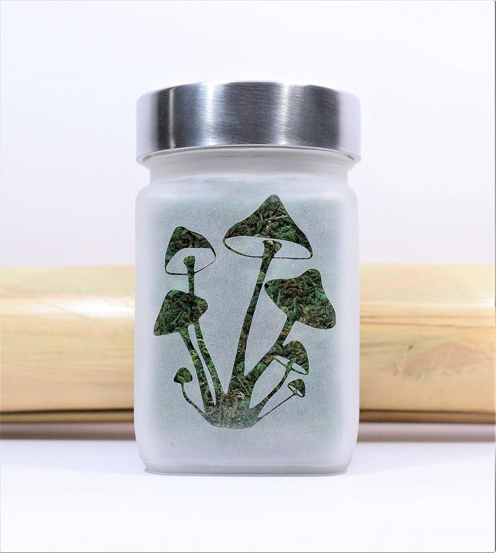Amazon.com: Stash Jar, Magic Mushroom Design - 420 Weed Accessories, Stoner Gifts & Stash Jars: Kitchen & Dining
