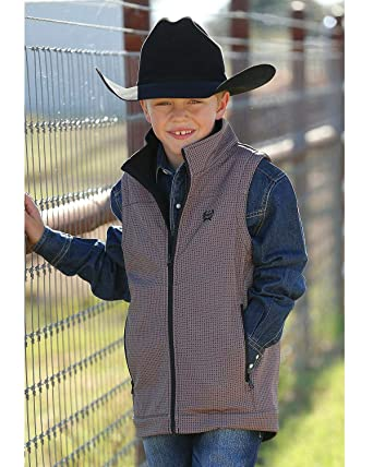 54655b300f69 Amazon.com  Cinch Boys  Match Dad Print Bonded Vest  Clothing