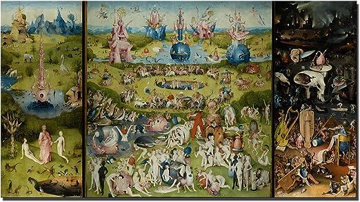 Fajerminart Cuadro En Lienzo - Impresiones En Lienzo Arte de la Pared - Famous Art Garden of Earthly
