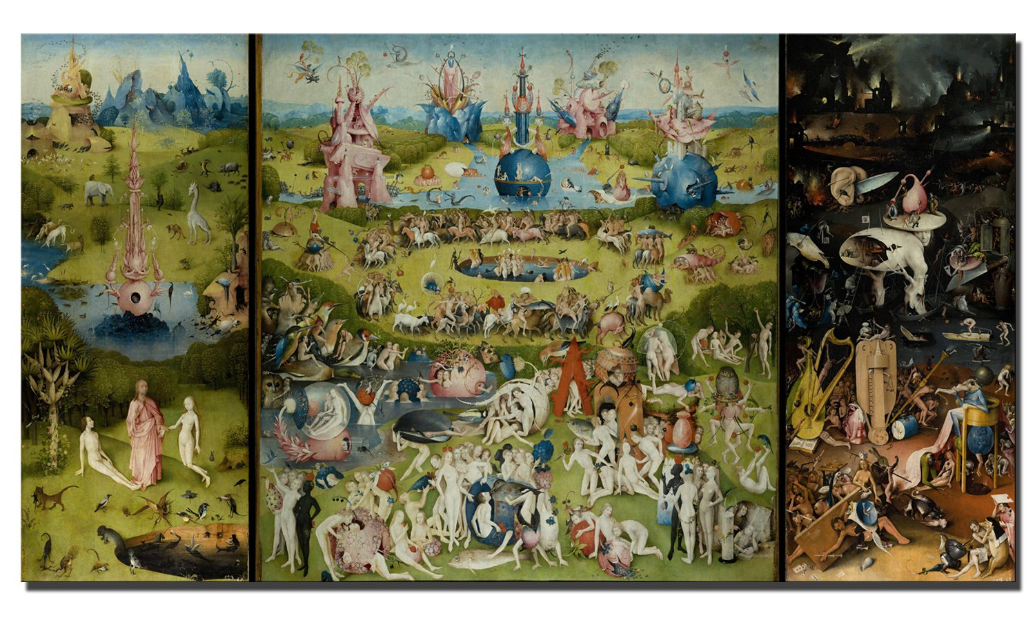 Fajerminart Canvas Prints,Famous The Garden Of Earthly Delights Canvas  Painting Replica, Paintings Canvas Wall Art, Canvas art Suitable Living  Room,