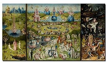 Faerminart Leinwand Gemälde   Berühmte Der Garten Der Irdischen Freuden  Himmel/Welt / Hölle Leinwand
