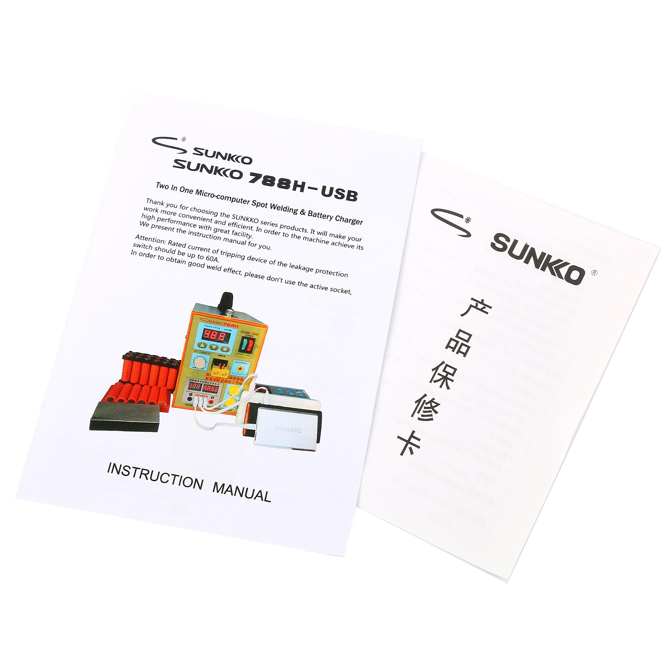 SUNKKO S788H-USB Precision Pulse Spot Welder +CC-CV Charge+Power Bank Test by SUNKKO