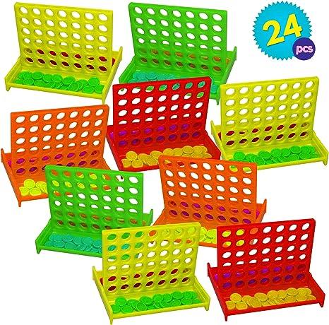 Granel Mini Juegos de Mesa Conecta 4 en una fila - 24 piezas Por ...