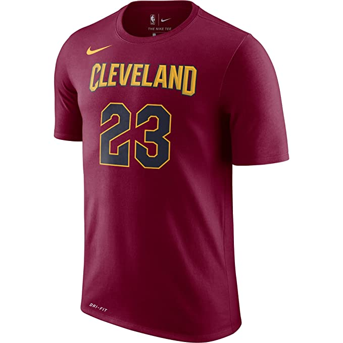 Nike NBA Cleveland Cavaliers Lebron James 2017 2018 Dry N&N Official, Camiseta de Hombre