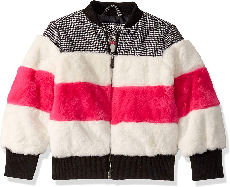Kensie Girls Outerwear Girls Little Mixed Media Bomber Jacket