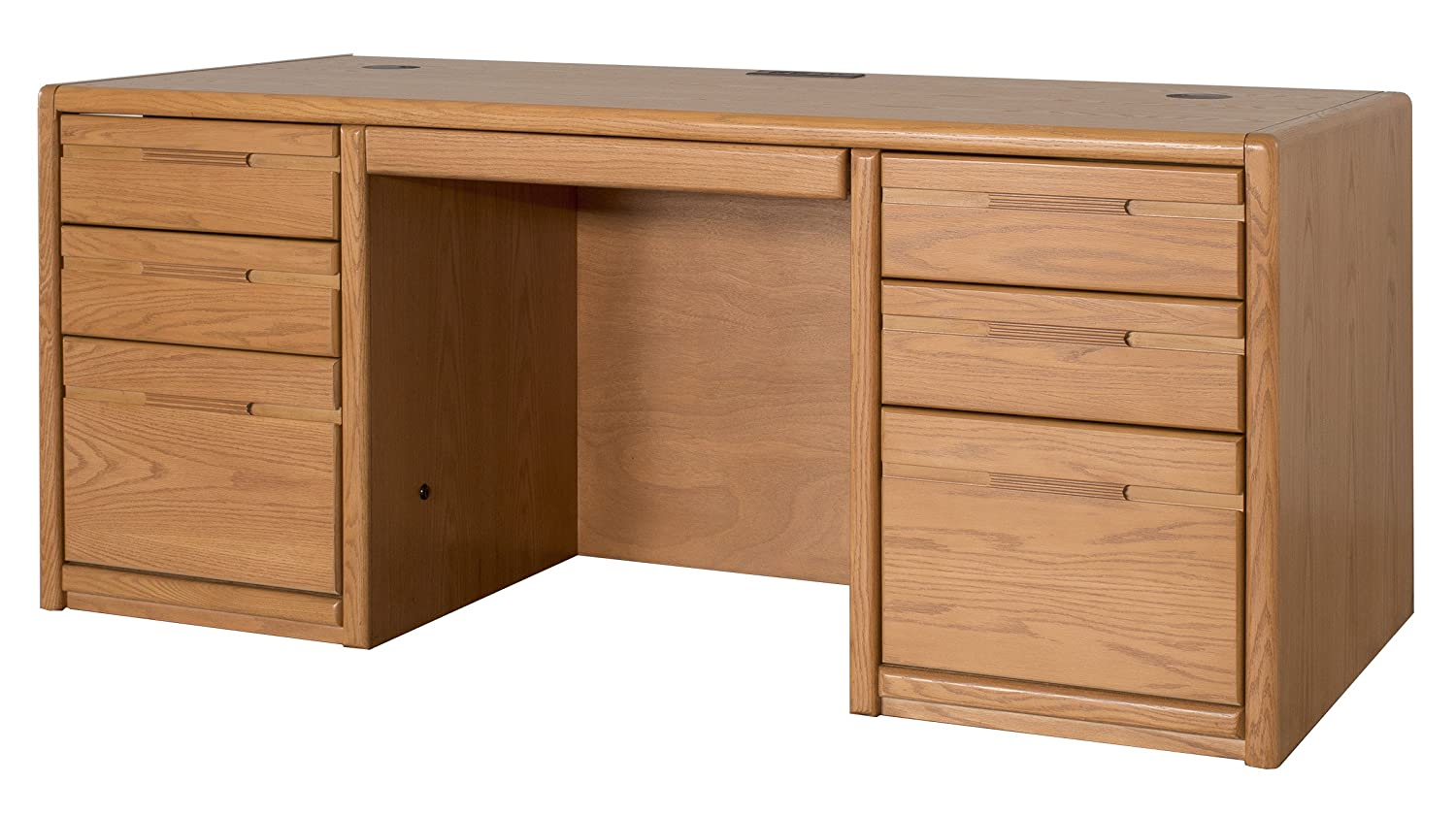 Kathy Ireland Home By Martin Contemporary 68 Double Pedestal Executive Desk - Fully Assembled