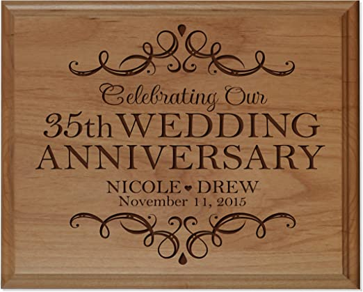 Personalized 12 x12 wooden sign with vinyl wording includes names dates...