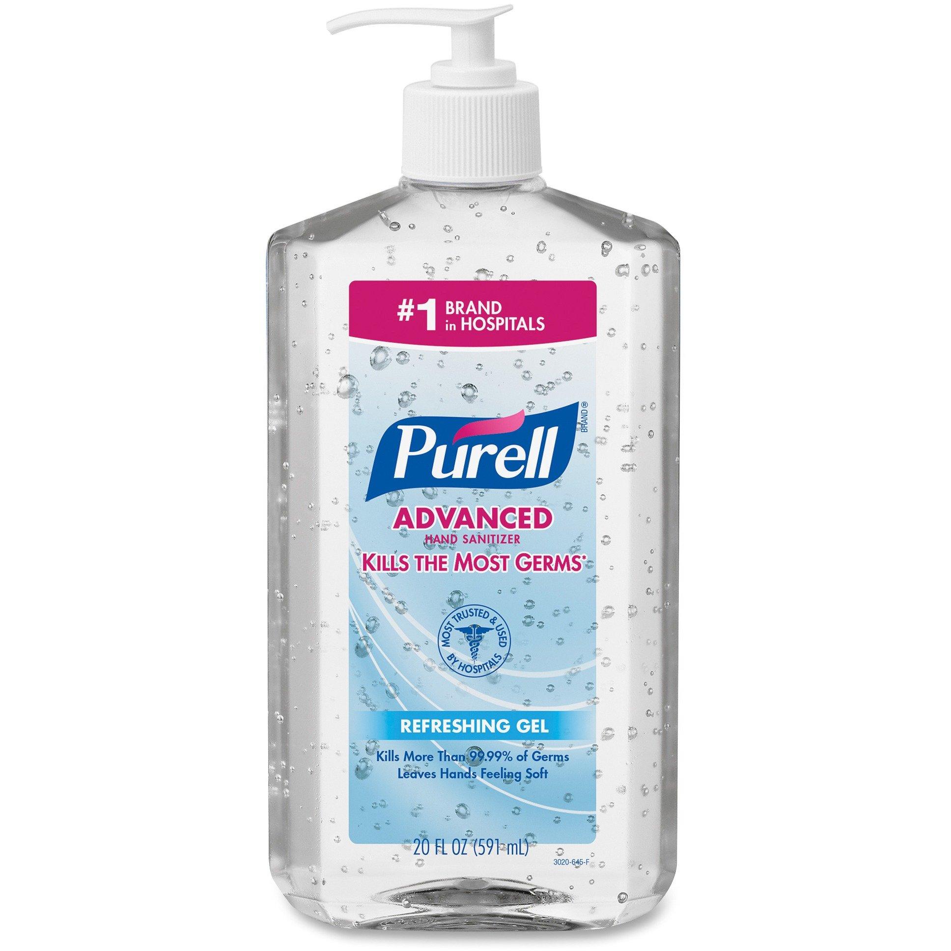PURELL - Hand Sanitizer, 20oz Pump Bottle, 12/Carton 3023-12 (DMi CT by Purell
