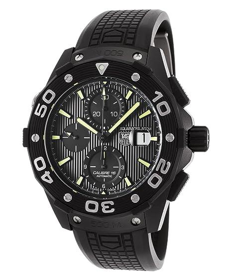 Tag Heuer Reloj Analógico para Hombre de Automático con Correa en Caucho CAJ2180-FT6023: Amazon.es: Relojes