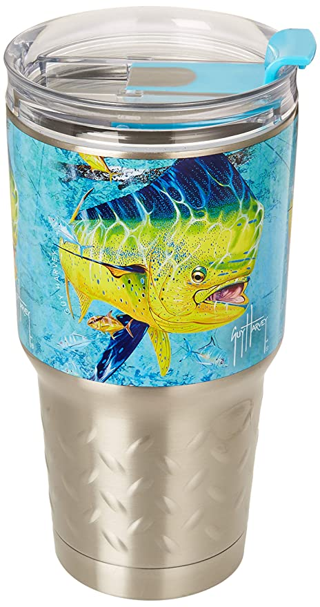 f632ea93942 Image Unavailable. Image not available for. Color: River's Edge Guy Harvey  ss Tumbler-Dorado Sports Water ...