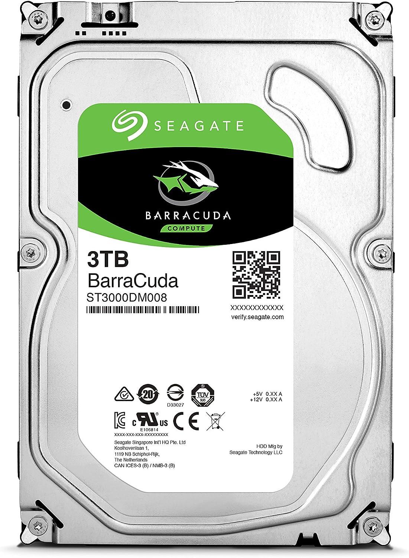 "6Gb//s 7200rpm 64MB Cache Seagate ST3000DM008 BarraCuda 3.5/"" HDD SATA III"