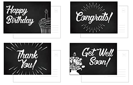 Chalkboard Assorted POSTCARDS 32 Pack