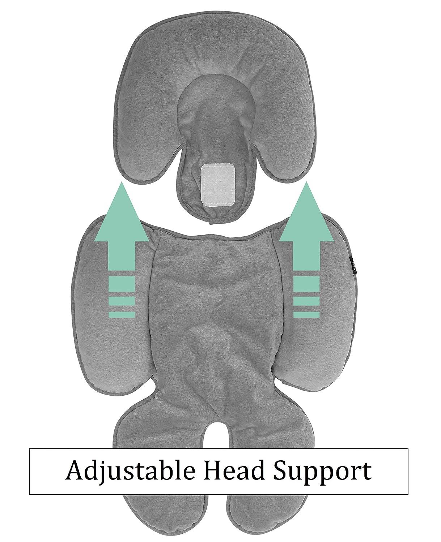 Amazon.com: Cojín para asiento de coche para bebé | apoyo ...
