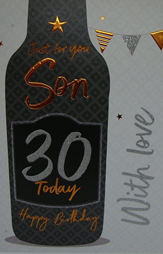 Son on your 30th Birthday Birthday Card Amazoncouk Kitchen Home