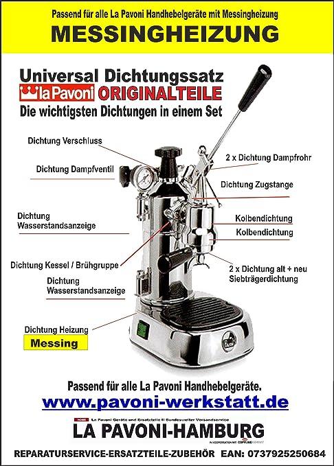 Pavoni Dichtungssatz 500m Für Alle Baujahre Mit Dichtung Für Messingheizung Küche Haushalt