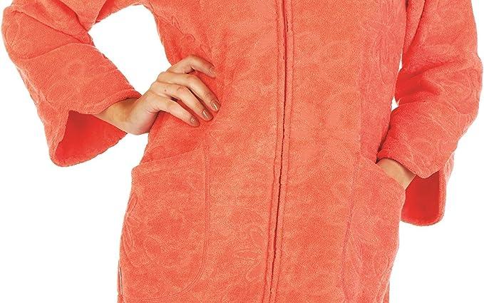Forex Lingerie /Albornoz suave con pr/áctica cremallera y acogedora capucha en diferentes colores y tama/ños