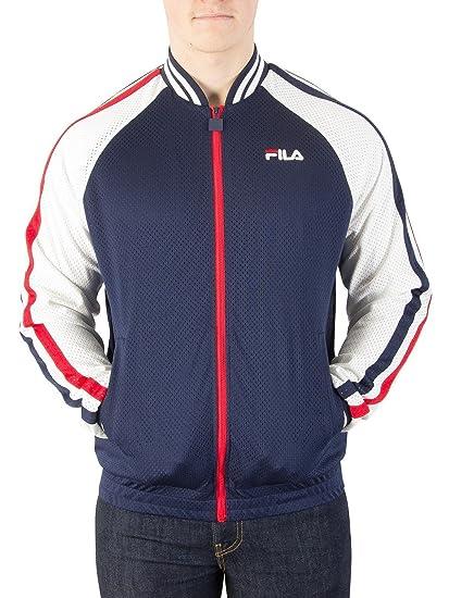 e355b57e8564a Fila Vintage Men's Lucas Track Jacket, Blue: Amazon.co.uk: Clothing