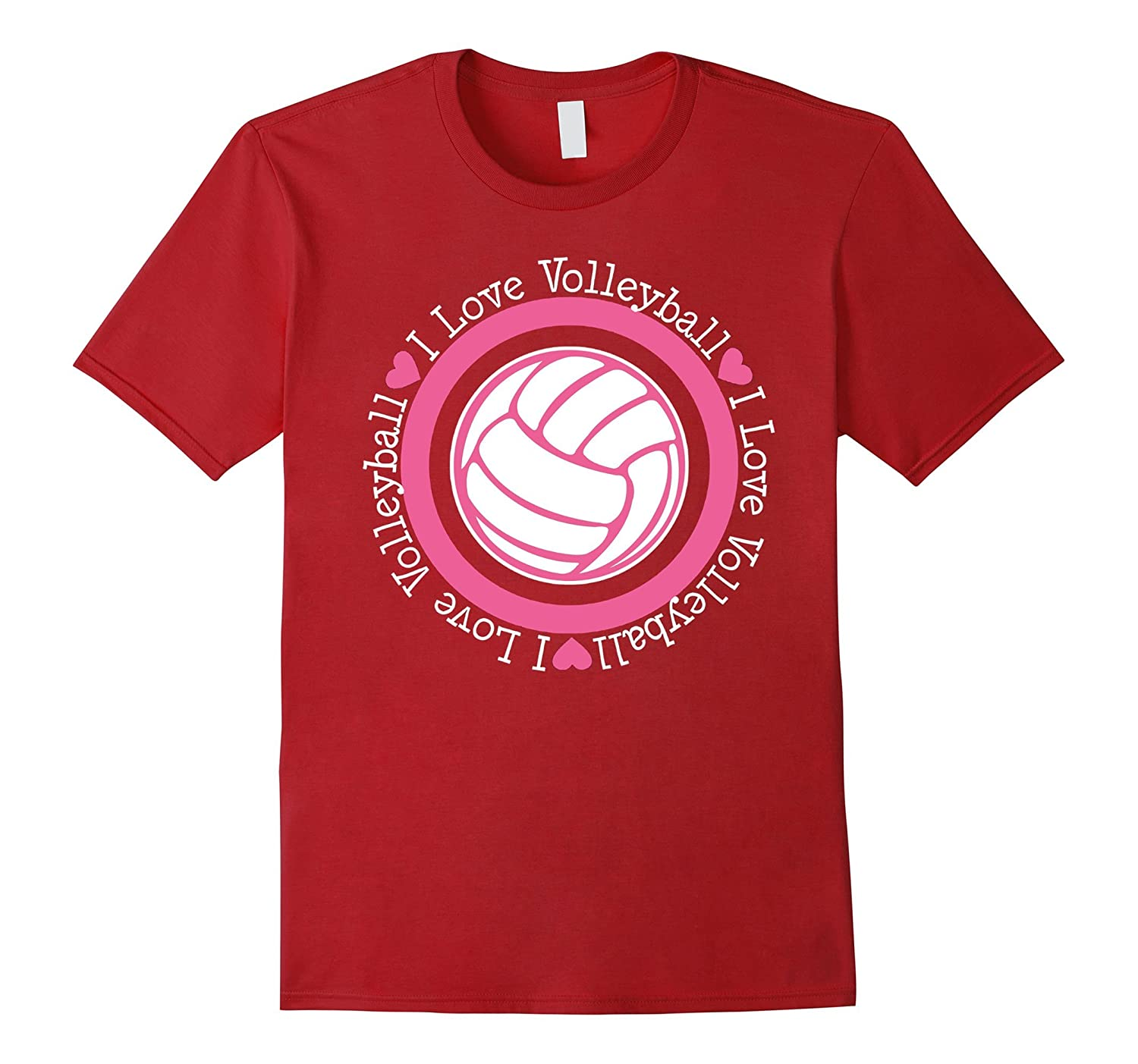 Volleyball t shirt - I Love Volleyball-CL