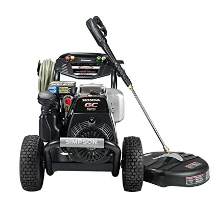 SIMPSON Cleaning MS61033-S 3300 PSI at 2 4 GPM Honda GC190 with OEM  Technologies Axial Cam Pump Cold Water Premium Residential Gas Pressure  Washer and