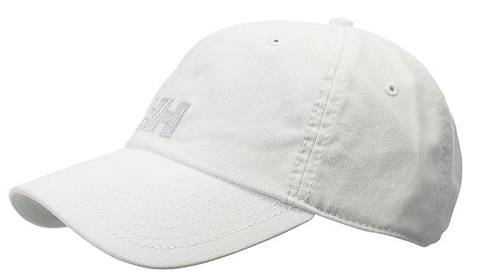 Helly Hansen Logo Cap - Gorra unisex, color blanco, talla única