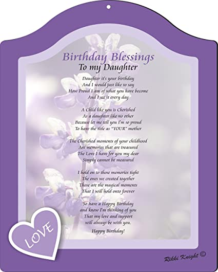 rikki knight birthday blessings to my daughter from mom love lavender floral design touching
