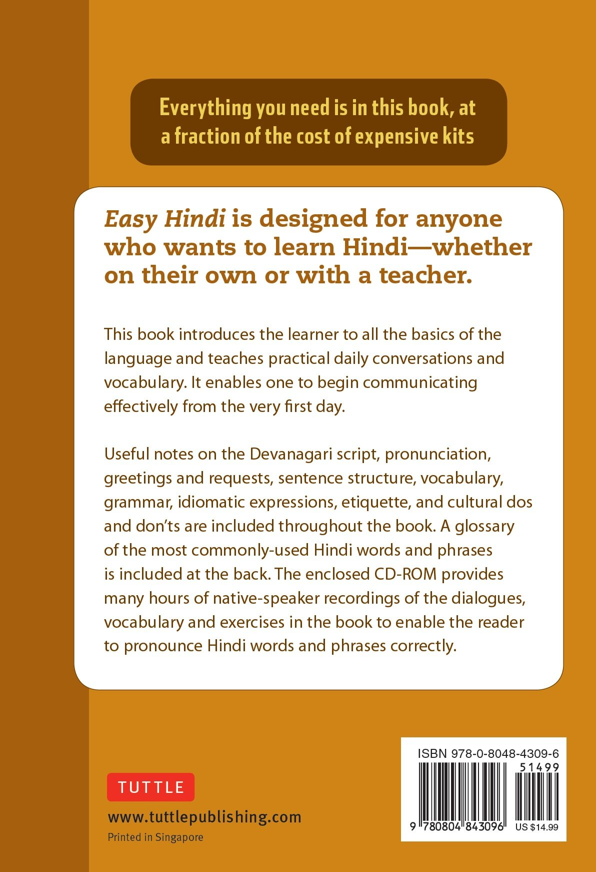 Easy Hindi A Complete Language Course And Pocket Dictionary In One