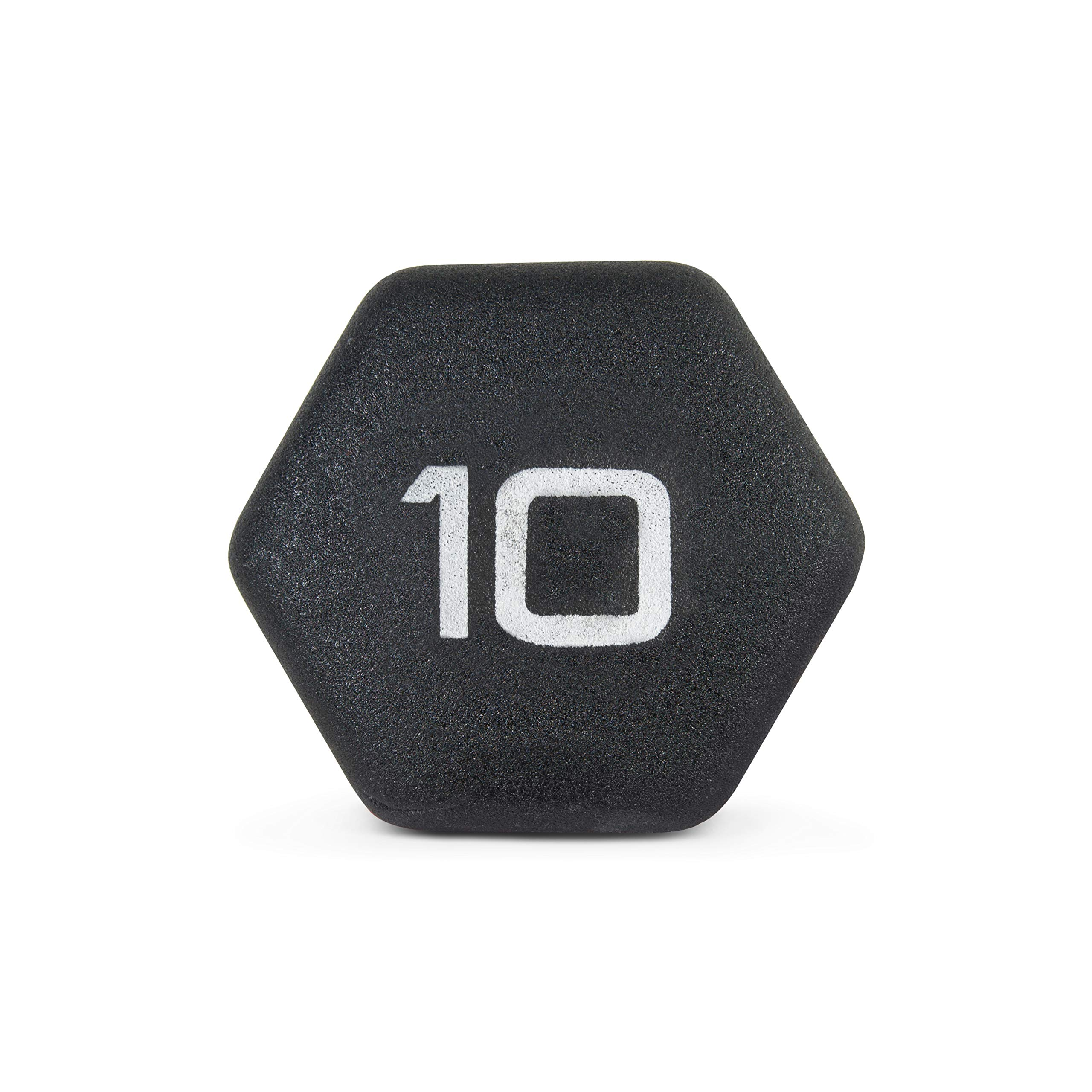 CAP Barbell Neoprene Coated Single Dumbbell, Black, 10-Pound by CAP Barbell (Image #6)