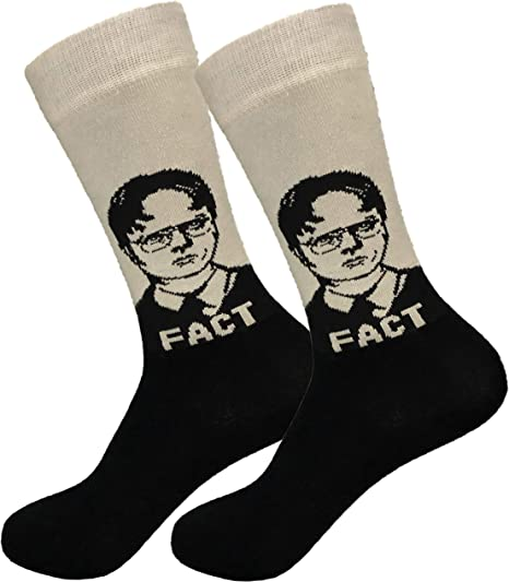 Dwight Schrute Dress Socks Rainn Wilson Funny Socks