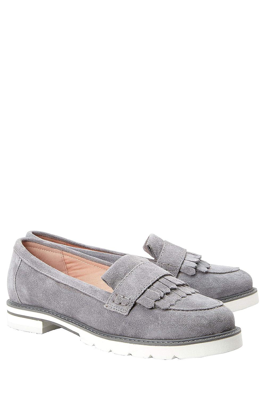 Next Damen Forever Comfort Lederslipper Mit Fransen