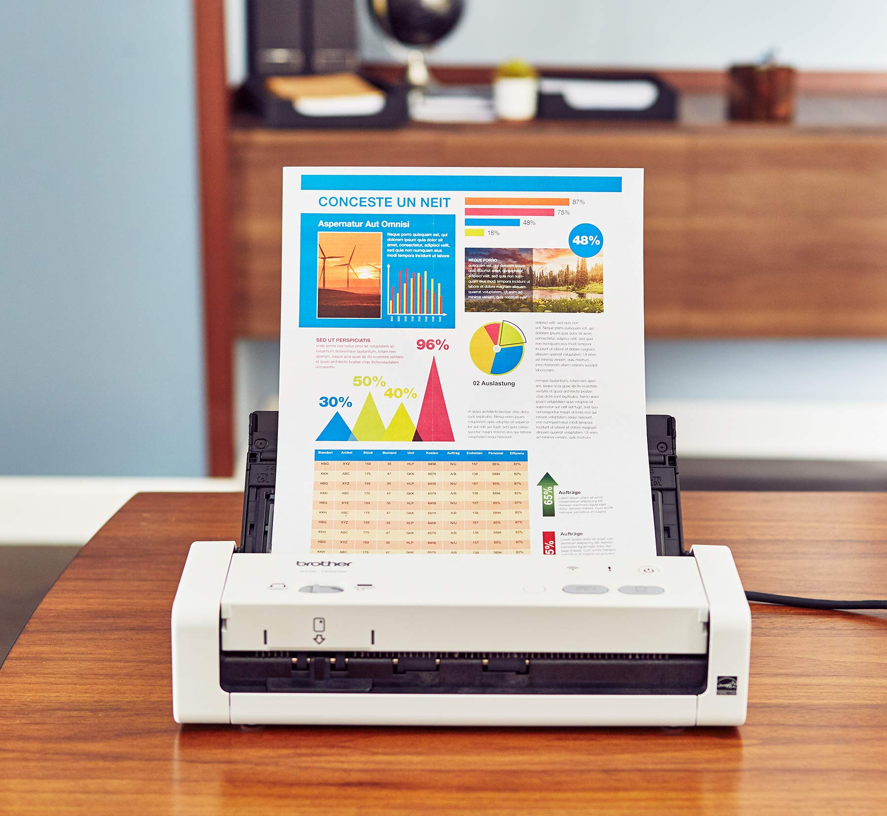 Brother Easy-to-Use Compact Desktop Scanner, ADS-1200, Fast Scan Speeds, Ideal for Home, Home Office or On-The-Go Professionals by Brother
