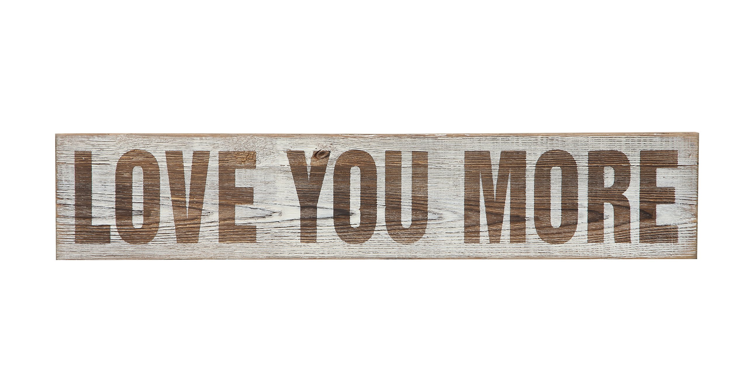 Creative Co-op DA5229 Love You More Wood Wall Décor