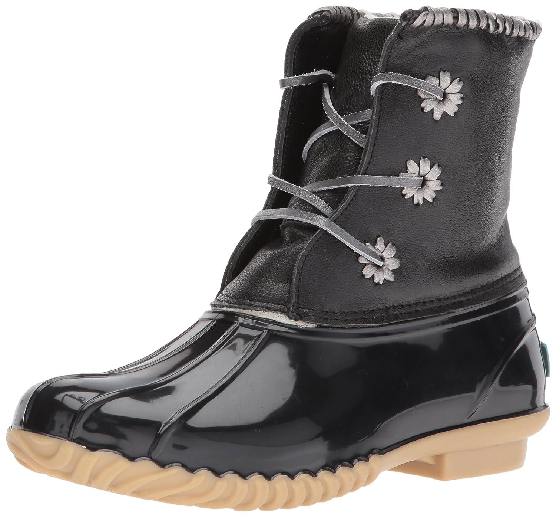 Jack Rogers Women's Chloe Metallic Rain Boot B06WWMW7K8 6 B(M) US|Black