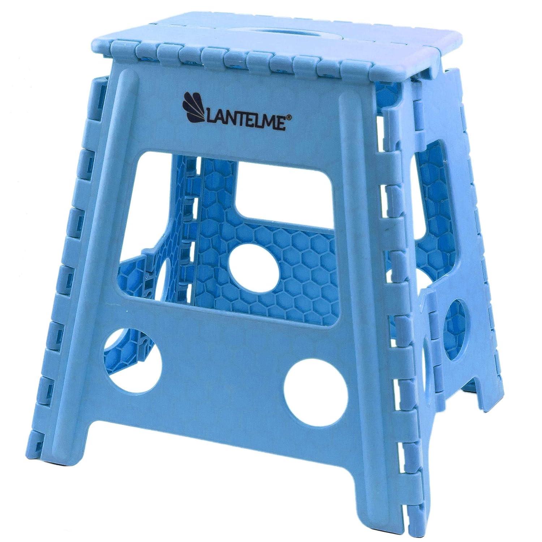 Lantelme 7674 salvaspazio Colore: Azzurro Giardino o Campeggio Portatile Sgabello Pieghevole per casa