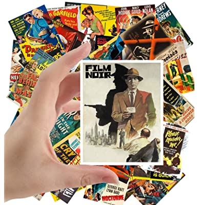 "Large Stickers (24 pcs 2.5""x3.5"") Film Noir Vintage Movie Poster Hardboiled Detective: Toys & Games"