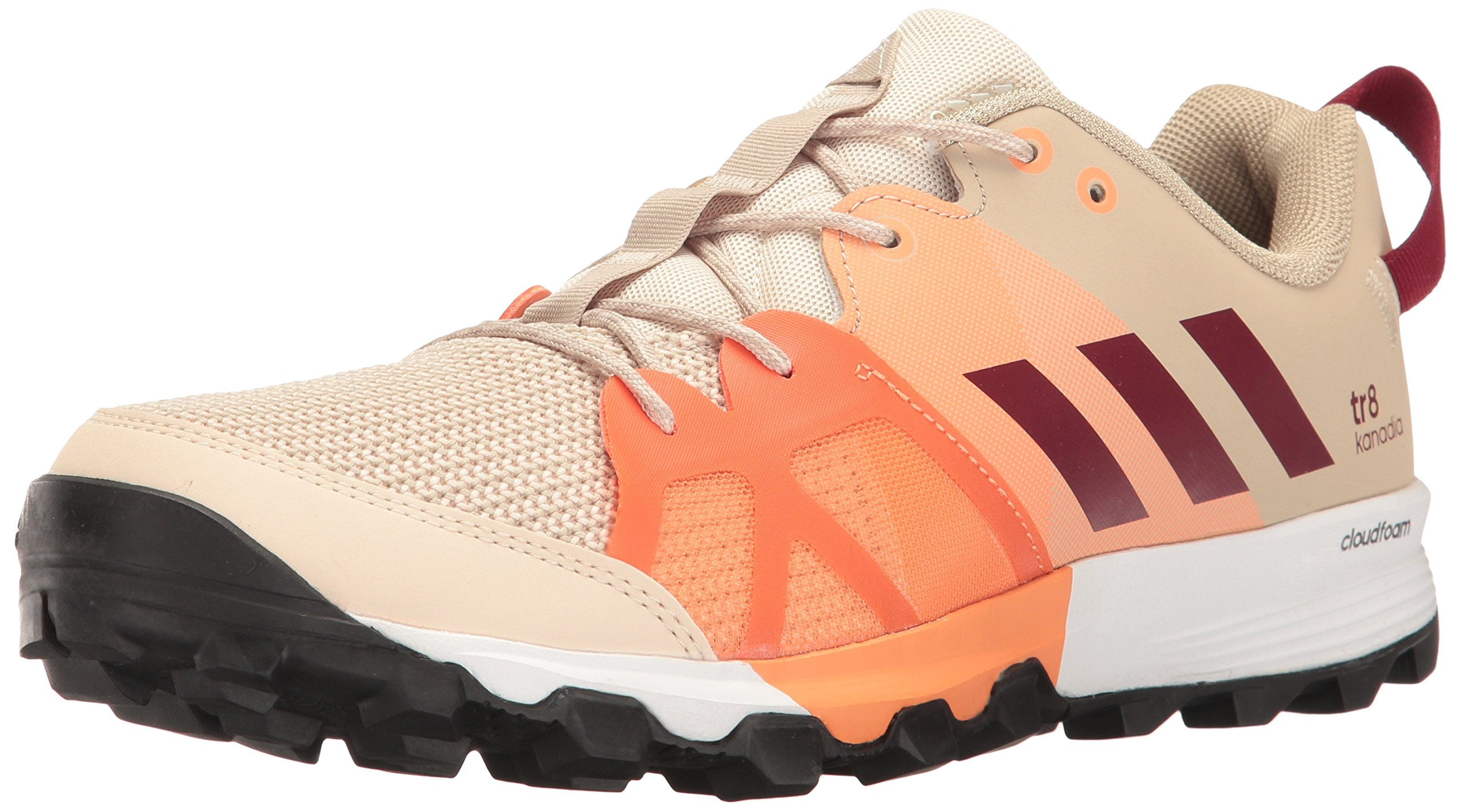 adidas Outdoor Women's Kanadia 8 TR Trail Running Shoe, Linen/Col. Burgundy/Glow Orange, 10.5 M US by adidas outdoor (Image #1)