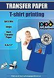 "PPD LTR 8.5x11"" Inkjet Iron On Transfers Paper / T Shirt Transfers - Dark T Shirt X 10 Sheets"