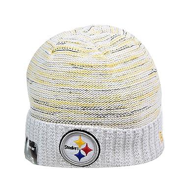 400ee072145ed6 ... denmark new era pittsburgh steelers nfl 17 knit kickoff mens beanie hat  white yellow 11461127 15b56