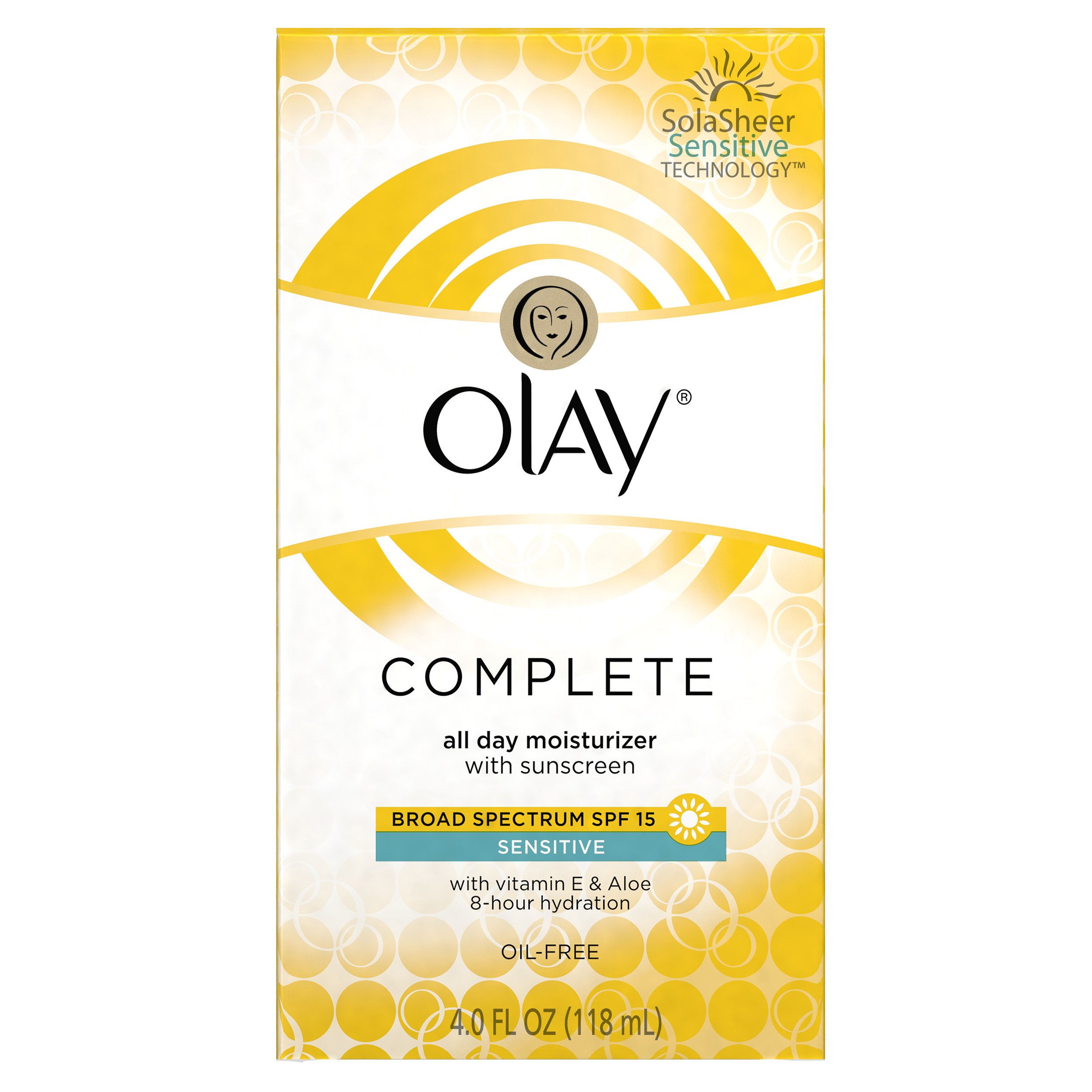 Olay Complete All Day Moisturizer With Sunscreen Broad Spectrum SPF 15 - Sensitive, 4 fl