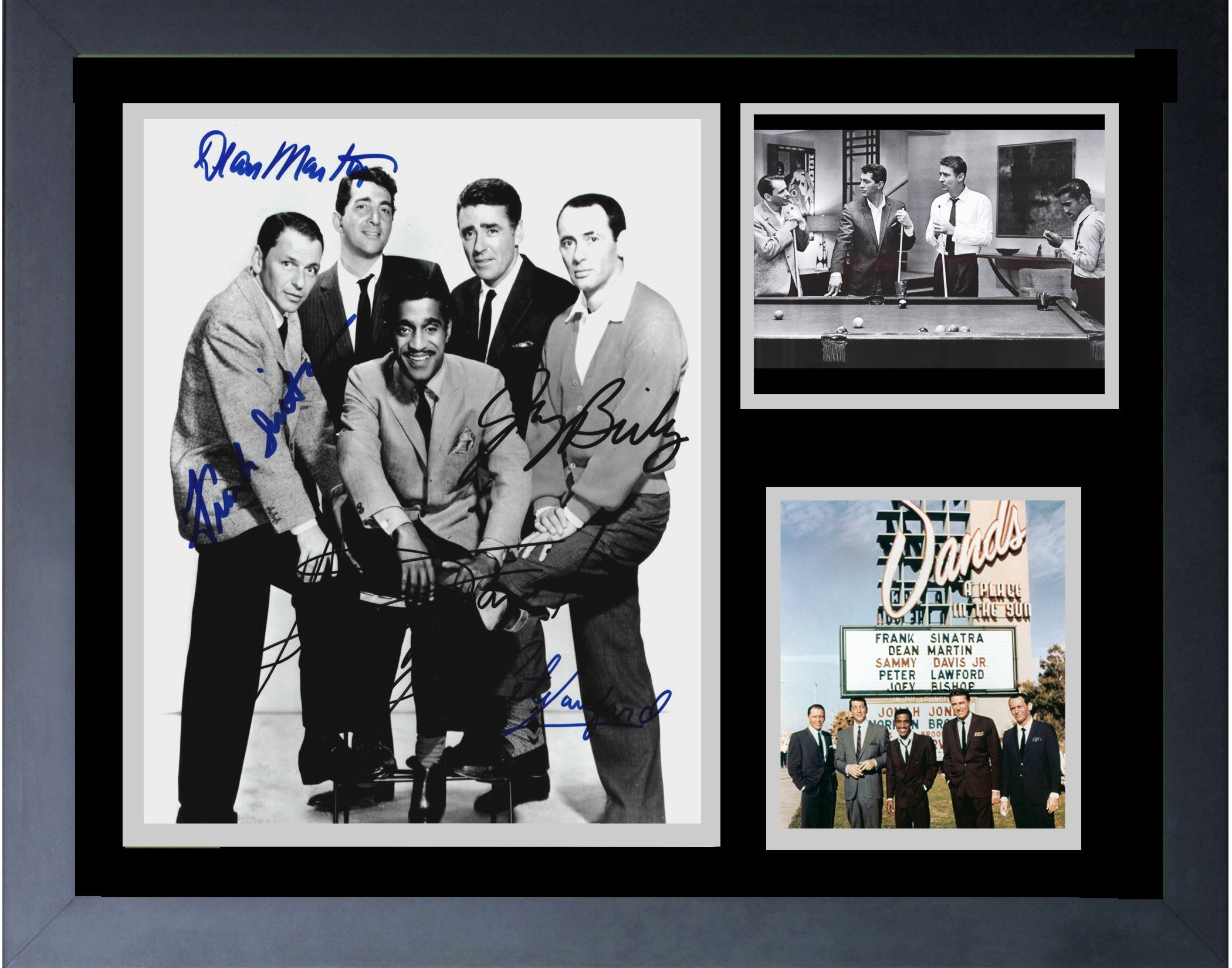 The Rat Pack And The Sands Hotel Las Vegas Frank Sinatra Sammy Davis Jr. DEAN Martin Framed Print 14 x 17
