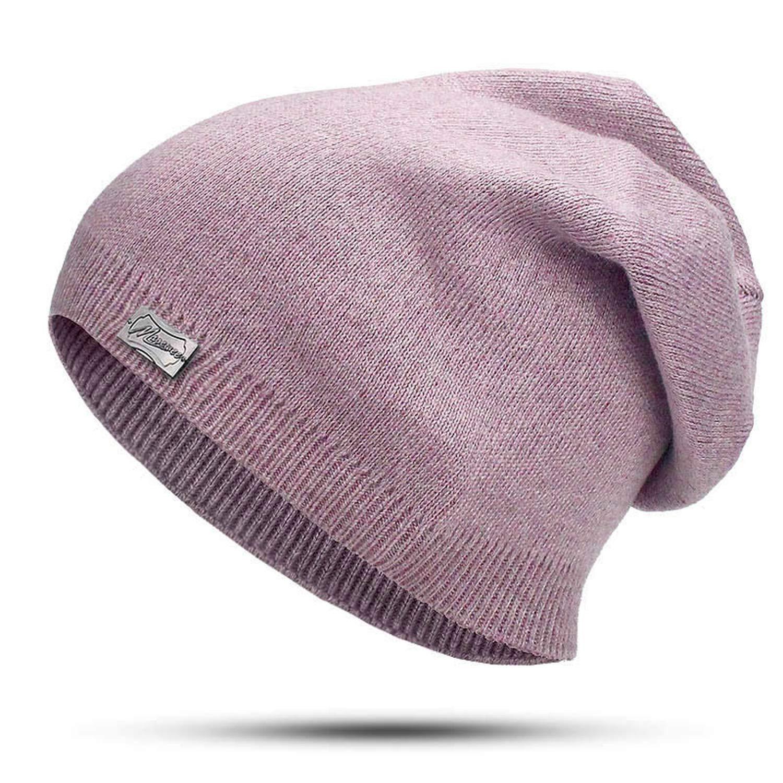 Knitted Skullies Beanies Women Winter Beanie Hat Female Warm Cap Cotton Casual Wool Solid Rabbit Beanie Hat