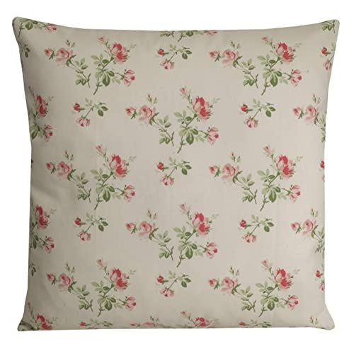 French Country Cushion Pink And White Floral Pillow Cover 16x16 Amazon Co Uk Handmade