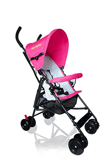 MirthMe luz peso bebé carrito/cochecito/cochecito de bebé (color rosa) Original con cubierta para la lluvia