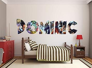 "Amazon.com: Dragon Ball Z Super Custom Name 3D Personalized Wall Decal Sticker Kids Wall Art Vinyl Wall Decal (40""W X 10""H): Baby"
