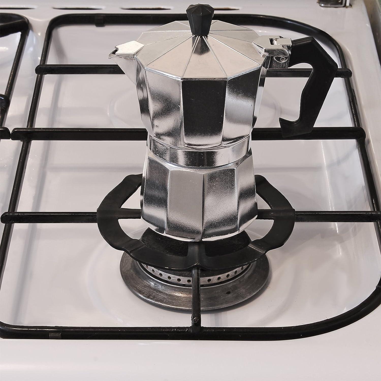 AMOS Reductor de Fogón Anillo Rejilla de Estufa Cocina de Gas Salvamanteles Soporte para Cafeteras Espresso Sartenes Ollas (Negro): Amazon.es: Hogar