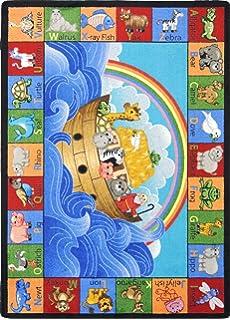 joy carpets kid essentials noahu0027s alphabet animals area rug 3u002710
