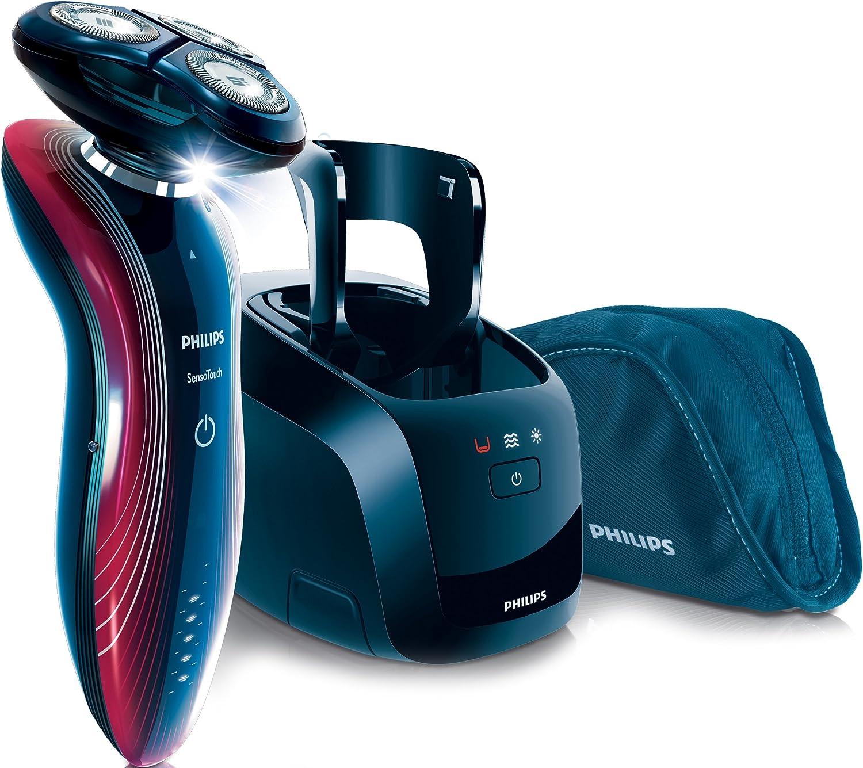 Philips SensoTouch - Afeitadora (Rotación, RQ11, SkinGlide, Rojo ...