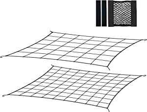 Wenses Flexible Trellis Netting Set for 4x4 5x5 4x2 Grow Tent (2-Pack) Complete with Accessory Tool Pouch